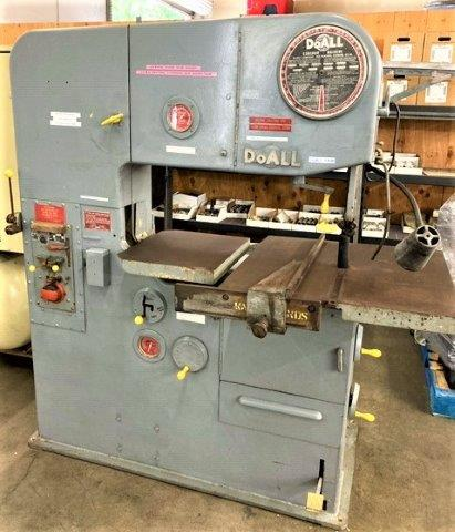 1 x 75 , DOALL Model 3613-2, Tilting Table, Cut off & Miter Attachment, Loaded